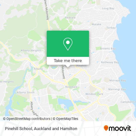 Pinehill School map