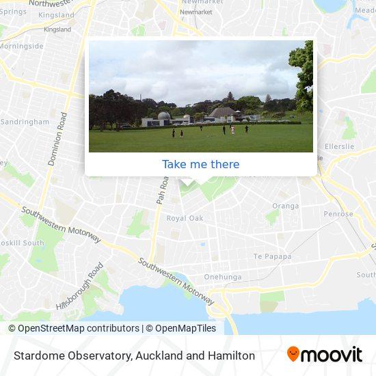 Stardome Observatory map