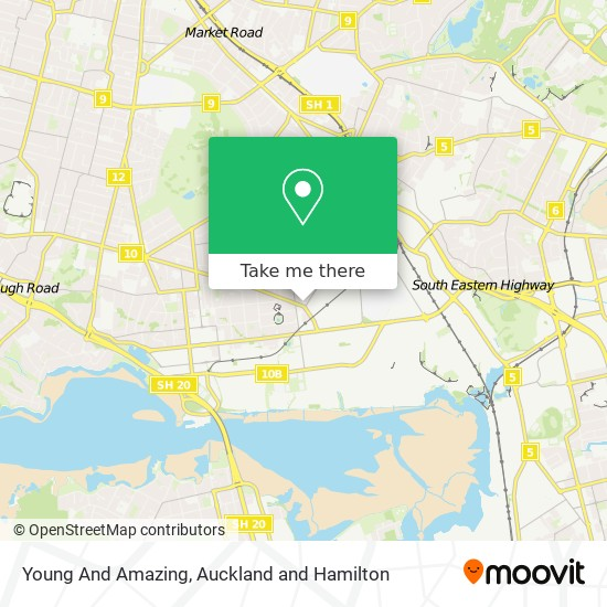 Young And Amazing map