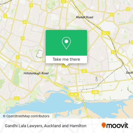 Gandhi Lala Lawyers map