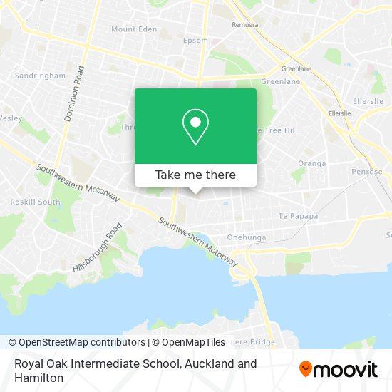 Royal Oak Intermediate School map