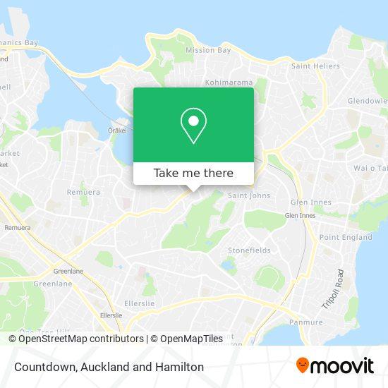 Countdown Meadowbank map