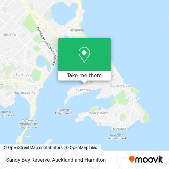 Sandy Bay Reserve map