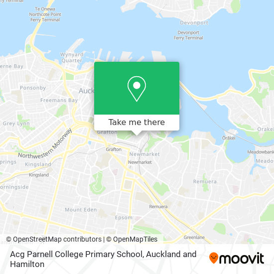 Acg Parnell College Primary School map