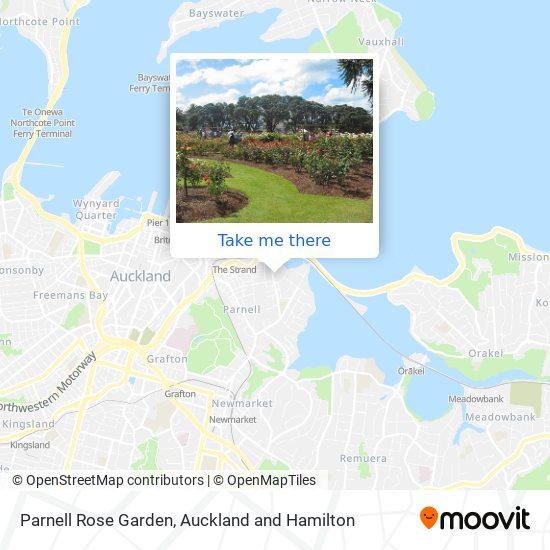 Parnell Rose Garden map