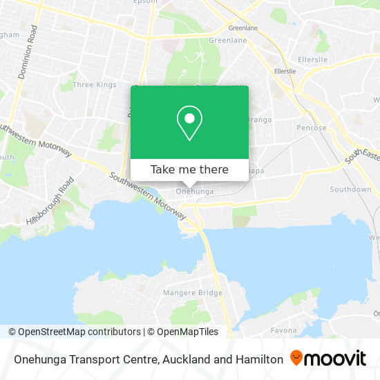 Onehunga Transport Centre map