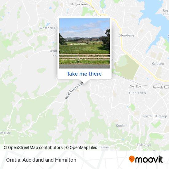 Oratia map
