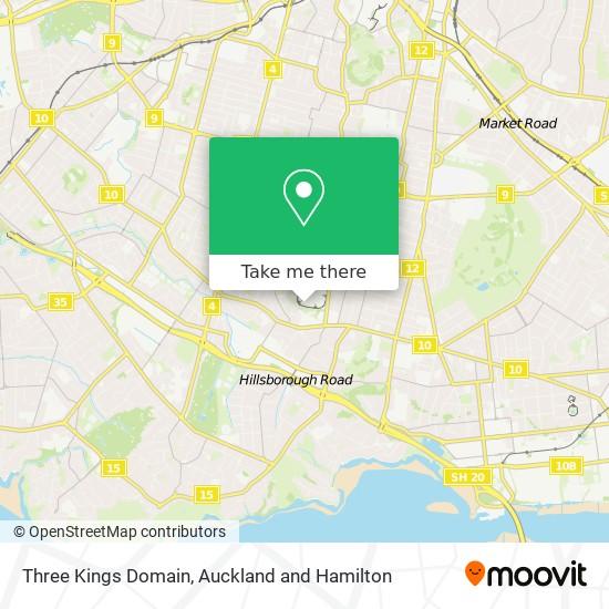 Three Kings Domain map
