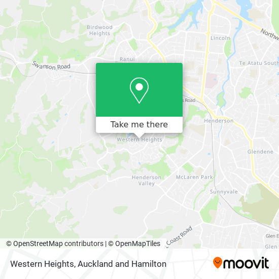 Western Heights map