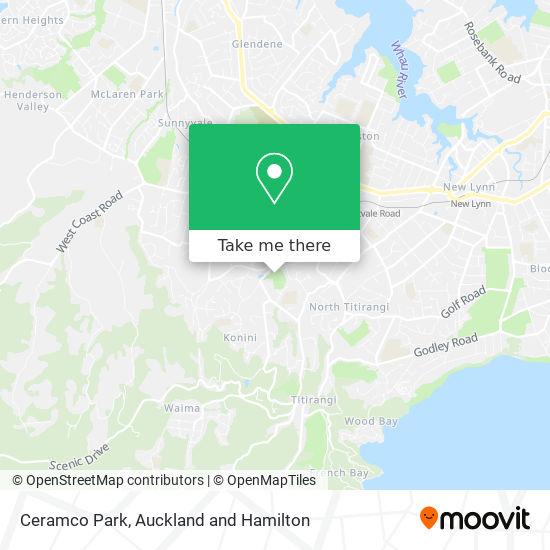 Ceramco Park map