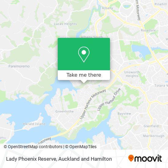 Lady Phoenix Reserve map