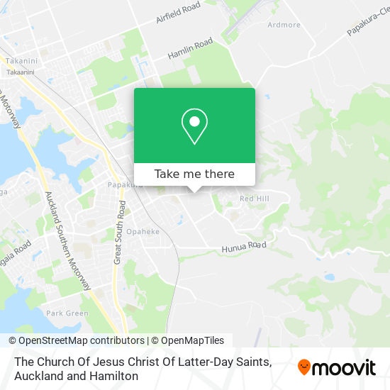 The Church Of Jesus Christ Of Latter Day Saints map
