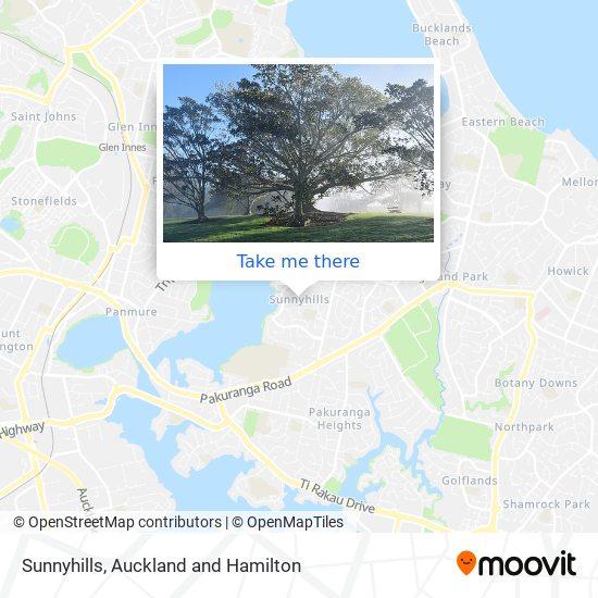 Sunnyhills map