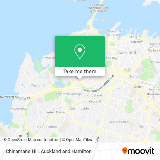 Chinaman's Hill map