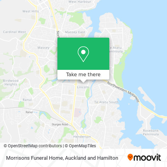 Morrisons Funeral Home map