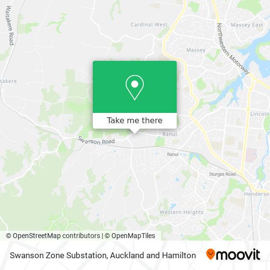 Swanson Zone Substation map