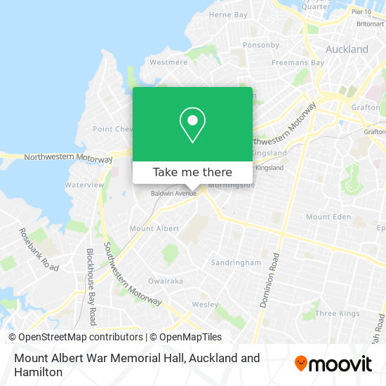 Mount Albert War Memorial Hall map
