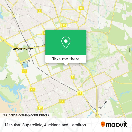 Manukau Superclinic map