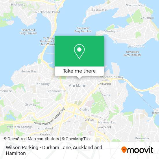 Wilson Parking - Durham Lane map