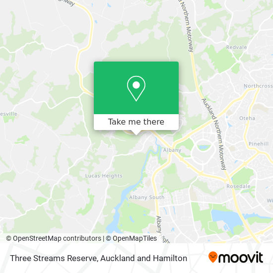 Three Streams Reserve map