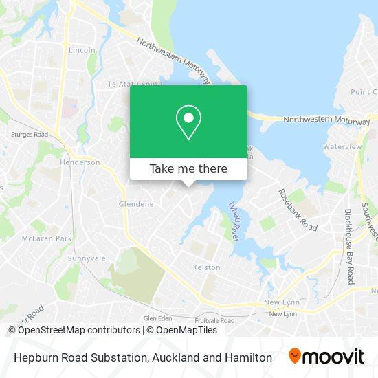 Hepburn Road Substation map