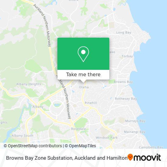 Browns Bay Zone Substation map
