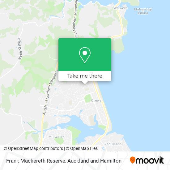Frank Mackereth Reserve map