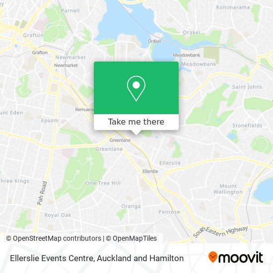 Ellerslie Events Centre map