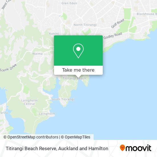 Titirangi Beach Reserve map