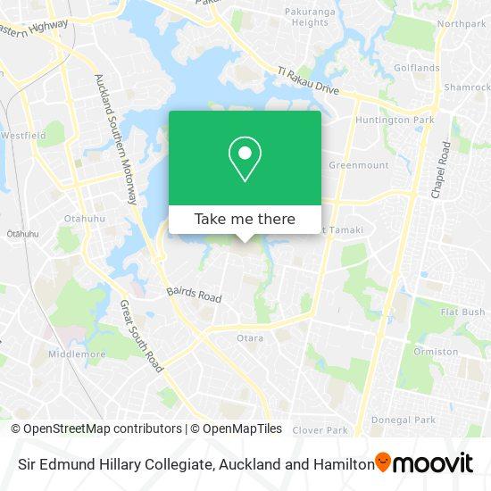 Sir Edmund Hillary Collegiate map