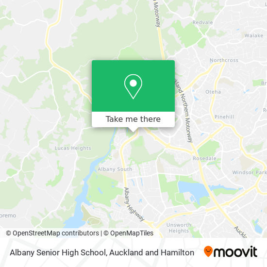 Albany Senior High School map