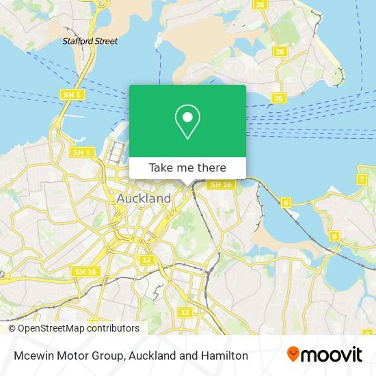 Mcewin Motor Group map