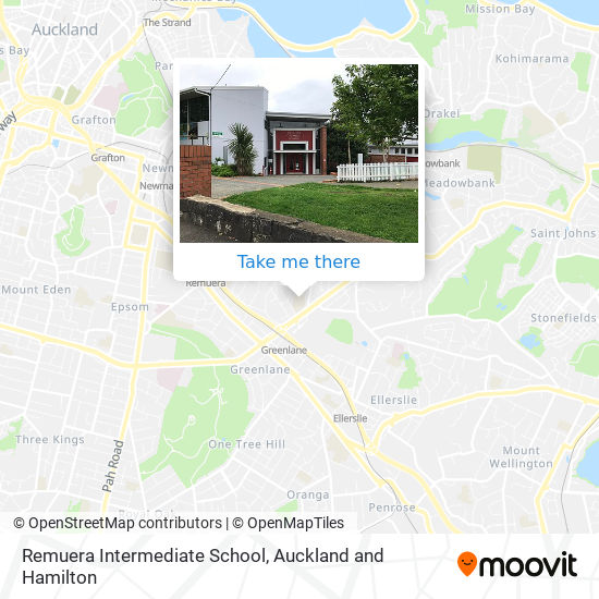 Remuera Intermediate School map