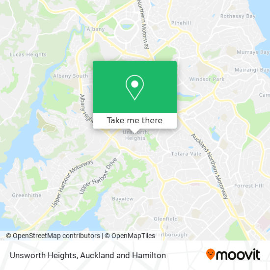 Unsworth Heights map