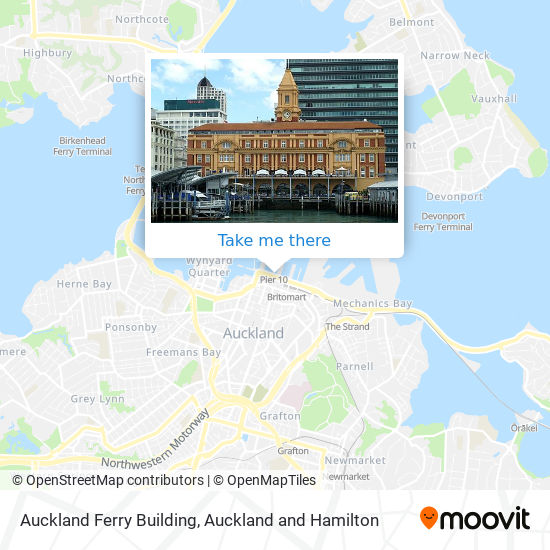 Auckland Ferry Building map
