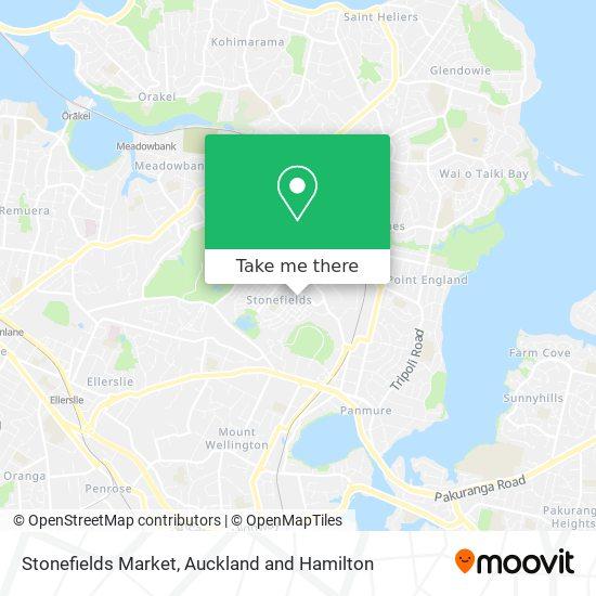 Stonefields Market map