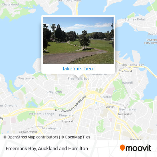 Freemans Bay map