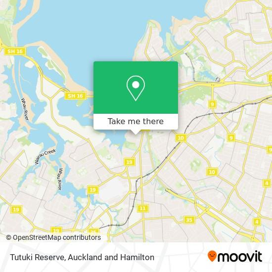 Tutuki Reserve map