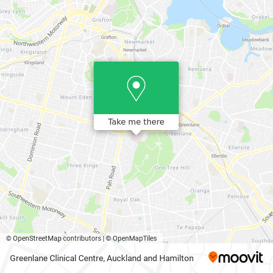 Greenlane Clinical Centre map