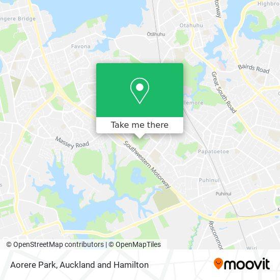Aorere Park map