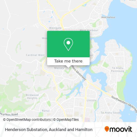 Henderson Substation map