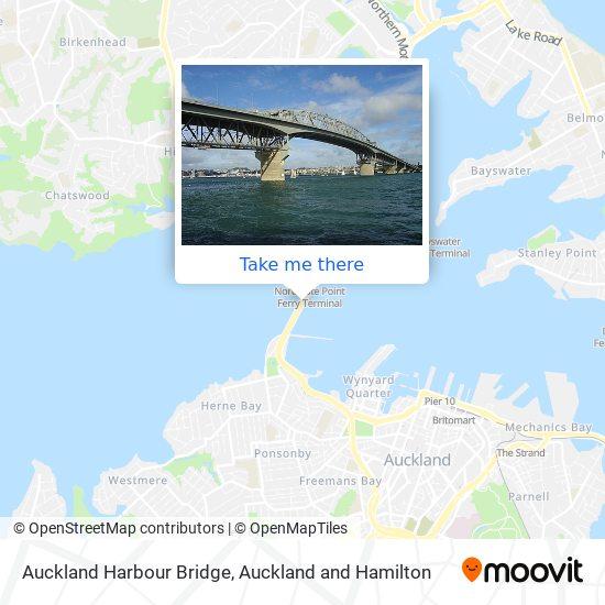 Auckland Harbour Bridge map