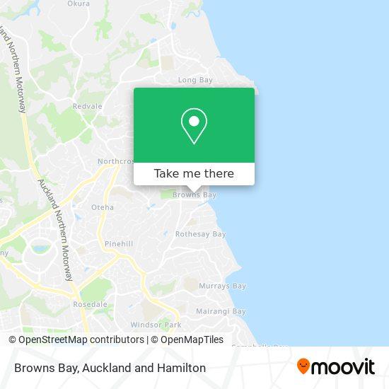 Browns Bay map