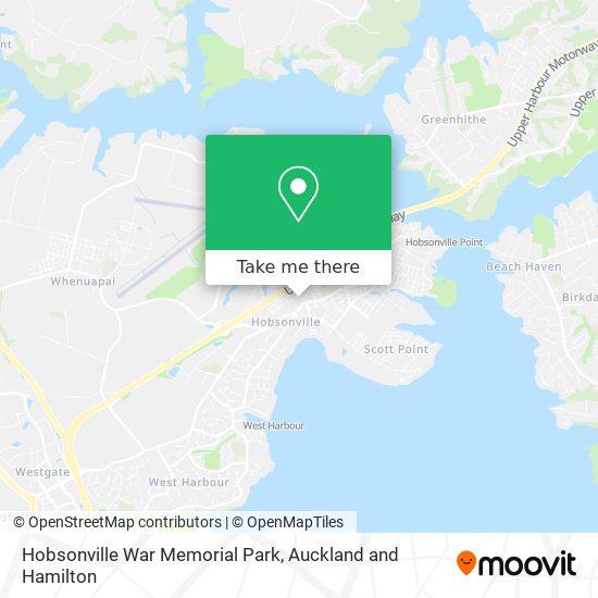 Hobsonville War Memorial Park map