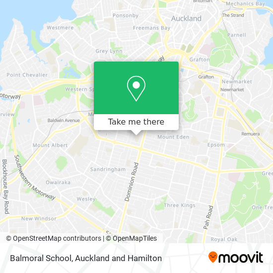 Balmoral School map