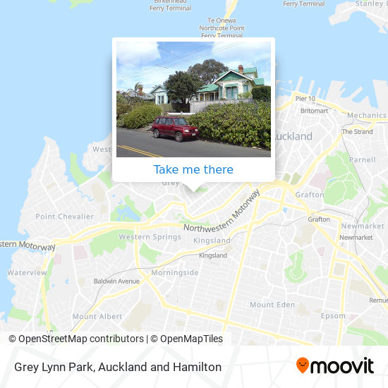 Grey Lynn Park map