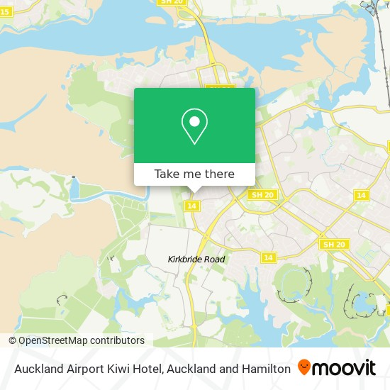Auckland Airport Kiwi Hotel map