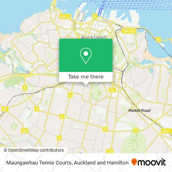 Maungawhau Tennis Courts map