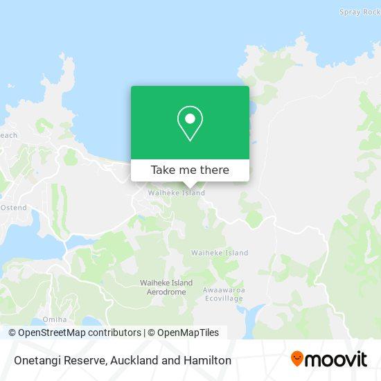 Onetangi Reserve map