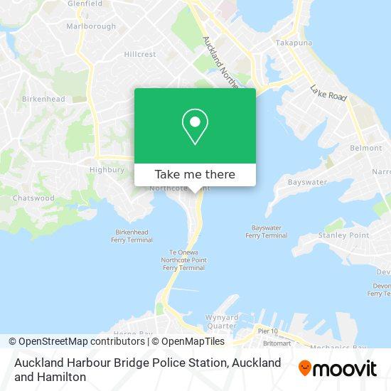 Auckland Harbour Bridge Police Station map